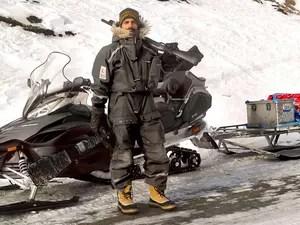 Mattos e sua snowmobile (Foto: Arquivo pessoal/ Francisco Mattos)