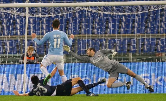 Klose gol Lazio Inter de Milão (Foto: AP)
