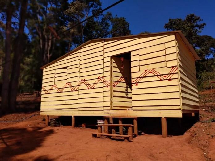 A aldeia pataxó está no local há um ano e seis meses — Foto: Paula Paiva Paulo