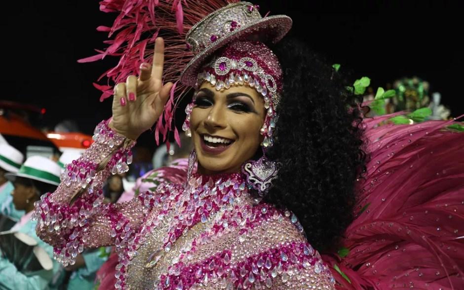 O enredo da Mocidade Alegre é A Voz Marrom que não Deixa o Samba Morrer (Foto: Fabio Tito/G1)