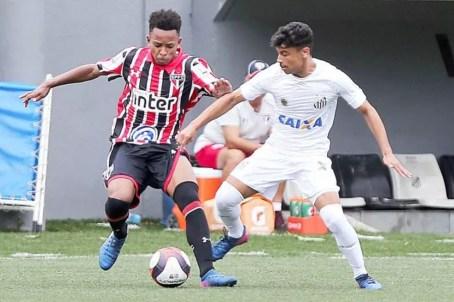 Santos perde para o São Paulo no Paulista sub-17 (Foto: Pedro Azevedo/Santos FC)