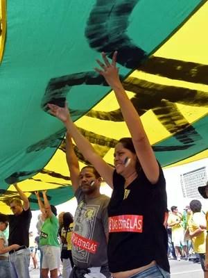 Manifestação contra o governo reuniu 25 mil em Brasília, diz PM (Evaristo Sá/AFP)