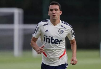 Pablo é o artilheiro do elenco na temporada, com quatro gols — Foto: Rubens Chiri/saopaulofc.net