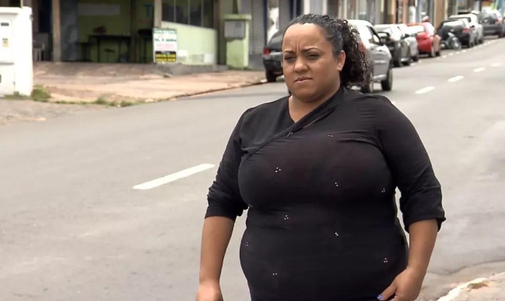 A estudante Ângela Silva postou o agradecimento ao motorista que ajudou a chegar no local de prova do Enem em São Carlos (Foto: Reprodução/ EPTV)