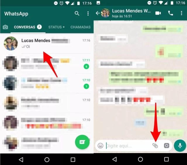 Abra a conversa com um amigo no WhatsApp (Foto: Reprodução/Lucas Mendes)