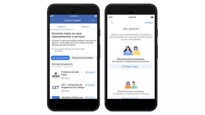 Portal do Cidadão cria feed de políticos locais no Facebook — Foto: Divulgação/Facebook