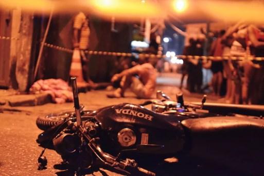 Criança morre atropelada e motociclista é espancado até a morte em Natal — Foto: Acson Freitas/Inter TV Cabugi