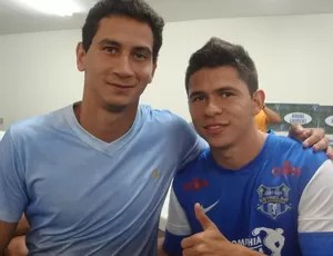 Paulo Henrique Ganso e Osvaldo, companheiros de São Paulo (Foto: Pedro Cruz / Globoesporte.com)