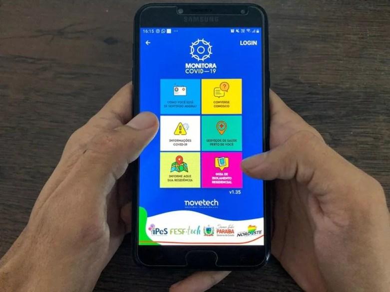 Governo da Paraíba disponibiliza aplicativo para monitorar pacientes com sintomas de Covid-19 — Foto: Secom-PB/Divulgação