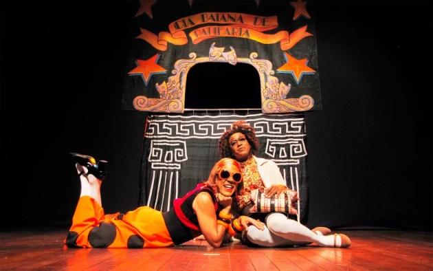 Personagens Fanta e Pandora do espetáculo