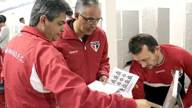 Ney Franco e seu auxiliar Eder Paixão (Foto: Divulgação / Site oficial do são Paulo)
