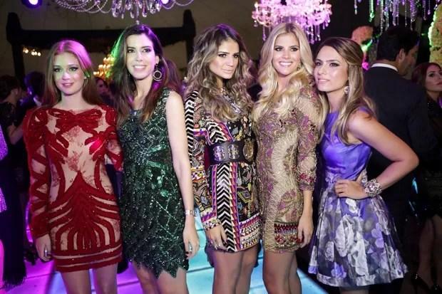 Marina Ruy Barbosa, Camila Coutinho, Thássia Naves, Lala Rudge e Patrícia Bonaldi (Foto: Hick Duarte / Divulgação)