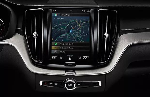 Painel da Volvo com novo sistema Android Auto (Foto: Google)