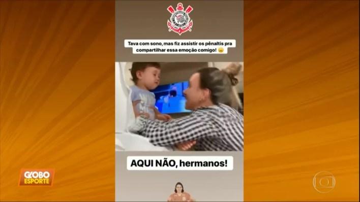 Filha de Cássio, do Corinthians, viraliza na internet — Foto: Reprodução