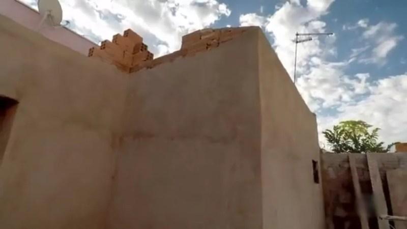 Quarto já está sendo construído em Santa Bárbara d´Oeste  — Foto: Reprodução/TV TEM