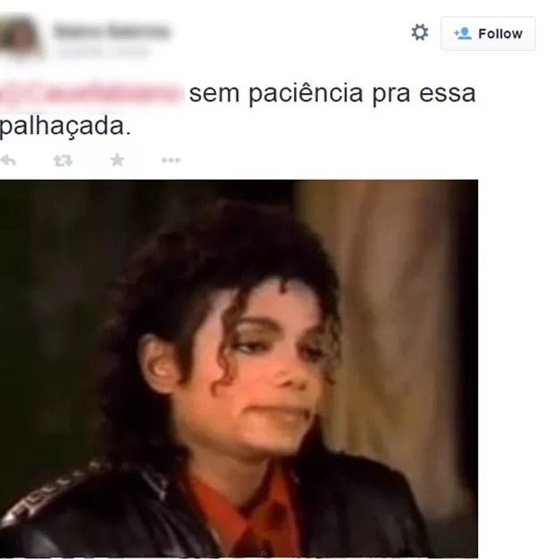 Foto de Michael Jackson foi usada para ilustrar reação dos candidatos (Foto: Reprodução/Twitter/sabrih_souza )