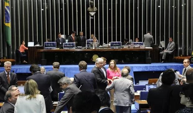 Plenário do Senado durante votação do Marco Civil da Internet (Foto: Waldemir Barreto/Agência Senado)