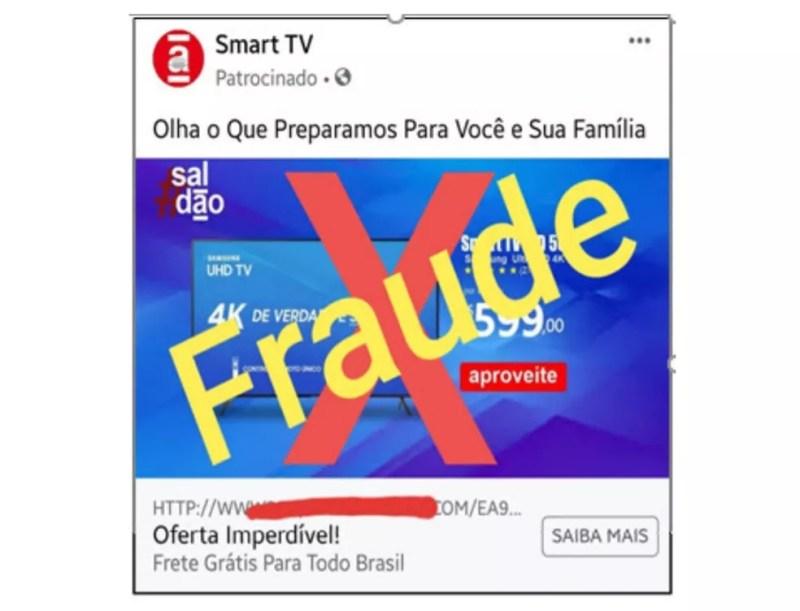 Anúncio de oferta fraudulenta nas redes sociais — Foto: Divulgação/Kaspersky