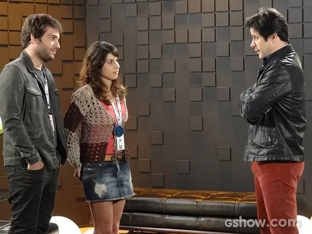 Jonas avisa a Davi que vai dar uma chance para Matias na empresa (Foto: Geração Brasil / TV Globo)