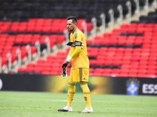 Diego Alves, goleiro do Flamengo — Foto: André Durão