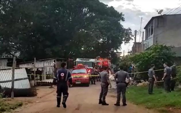 Área onde atirador matou três pessoas foi isolada em Sousas, Campinas (Foto: Polícia Militar/Divulgação)
