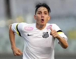Lucas Otávio volante Santos sub-20 (Foto: Pedro Ernesto Guerra Azevedo / Santos FC)