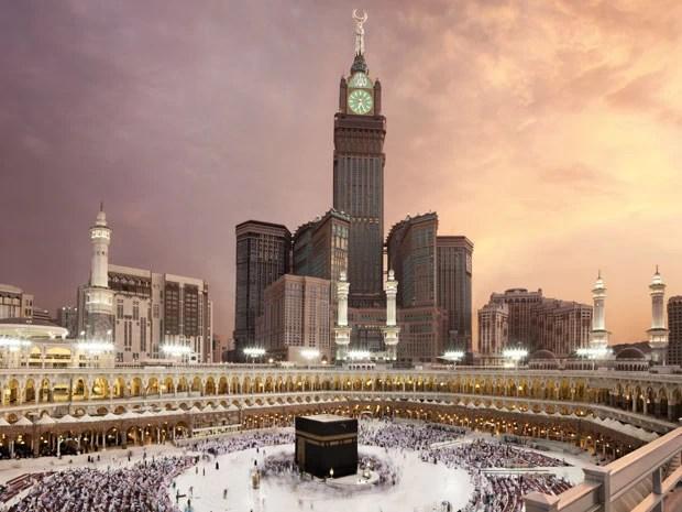 O Makkah Clock Royal Tower, segundo prédio mais alto do mundo (Foto: Divulgação/Fairmont)