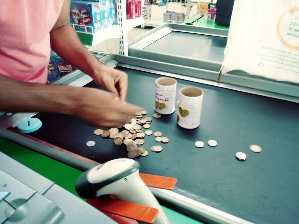 No total, R$ 300 foram juntados pelas crianças (Foto: Ingrid Taveira/Arquivo pessoal)