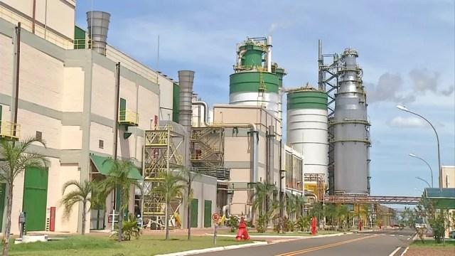 Eldorado Celulose e Papel, em Três Lagoas (MS), foi vendida para grupo holandês (Foto: Reprodução/TV Morena)