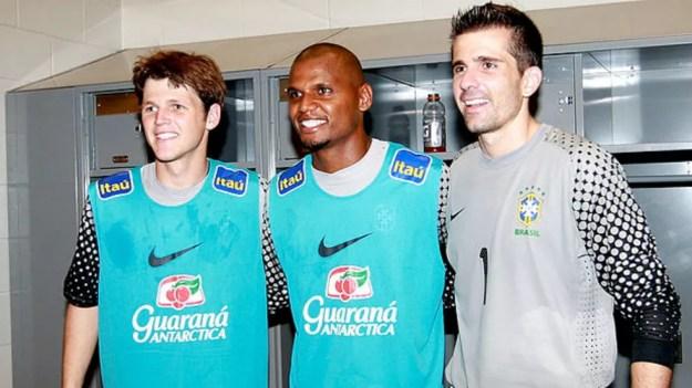 Renan foi concovado para a Seleção em 2010 ao lado de Jefferson e Victor (Foto: Divulgação/CBF)