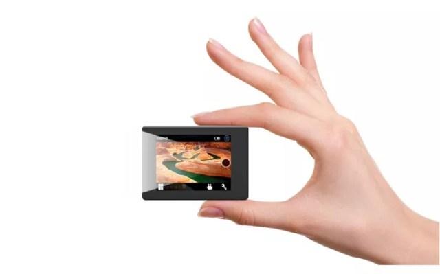 Câmera de ação SJ5000 tem design compacto (Foto: Divulgação/SJCAM)