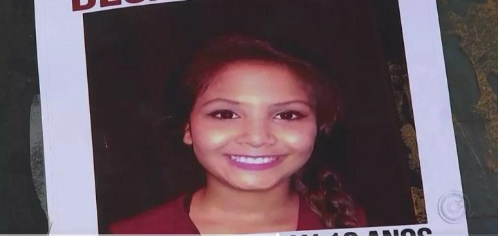 Menina Vitória Gabrielly desapareceu após sair de casa para andar de patins (Foto: TV TEM/Reprodução)