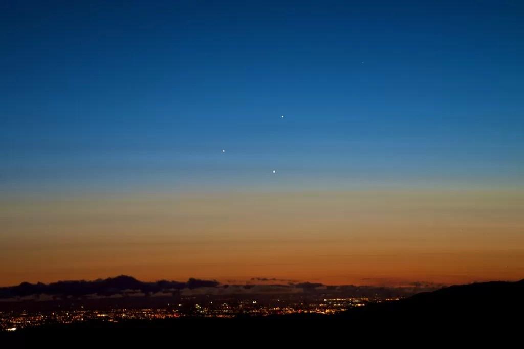 Conjunção entre Júpiter, Mercúrio e Vênus (Foto: Ray Ellersick/flickr/creative commons)