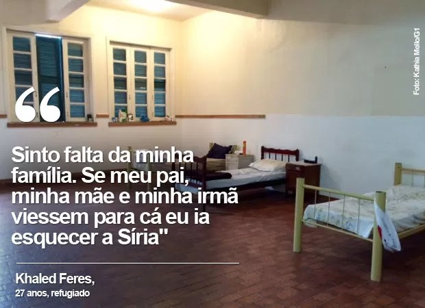 Khaled Feres diz que se a família se refugiasse no Brasil, ele esqueceria a Síria (Foto: Káthia Mello / G1)