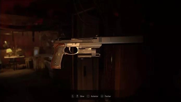 Pistola Albert-01R é uma das mais fortes de Resident Evil 7 (Foto: Reprodução/Felipe Demartini)