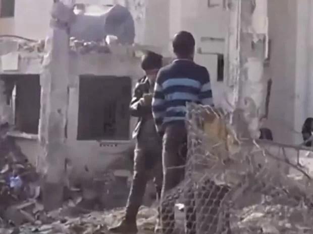 Vídeo mostra hospitais bombardeados na Síria (Foto: Reprodução/BBC)