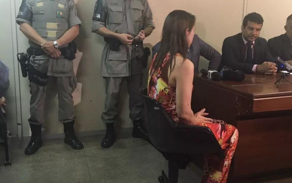 Márcia Zaccarelli confessou à polícia ter matado a filha (Foto: Mariana Martins/TV Anhanguera)