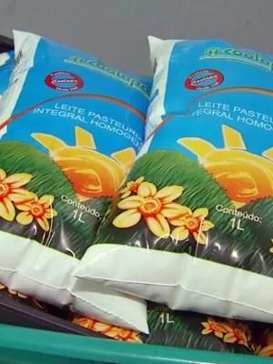 Leite produzido por cooperativa de São Sebastião do Paraíso era distribuído em São Paulo (Foto: Reprodução EPTV)