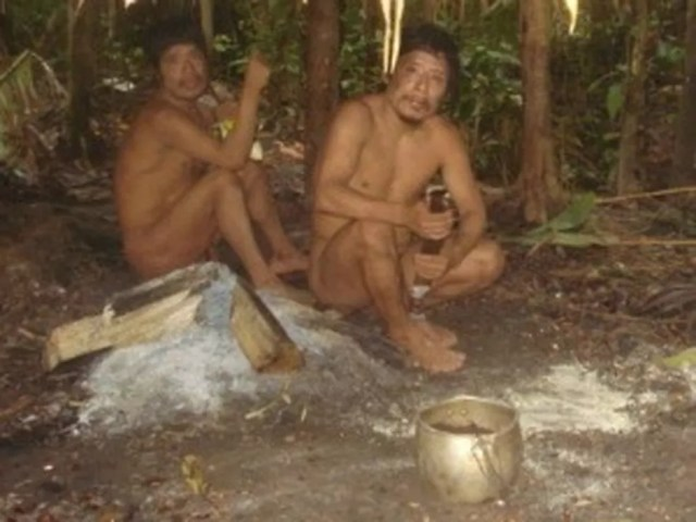 Índios da etnia Piripkura vivem isolados em MT — Foto: Assessoria/Funai