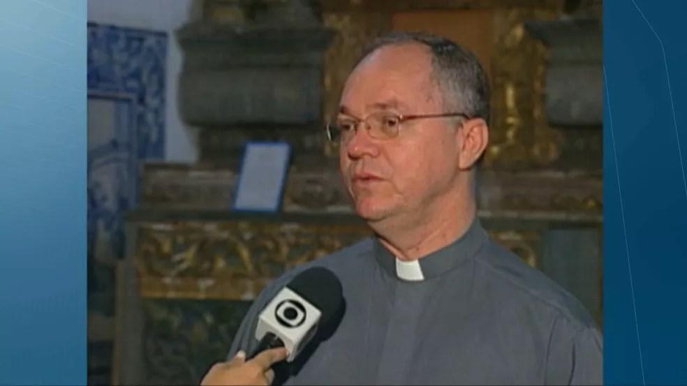 Monsenhor Ednaldo Araújo dos Santos — Foto: TV Cabo Branco/Reprodução