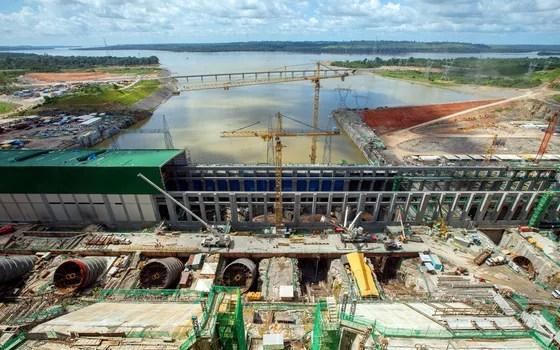 Vista parcial de obras da construção da casa de força principal da usina hidrelétrica de Belo Monte, em Altamira, no Pará (Foto:  DANIEL TEIXEIRA/ESTADÃO CONTEÚDO)