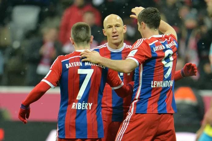 Robben Bayern de Munique Colônia (Foto: AP)