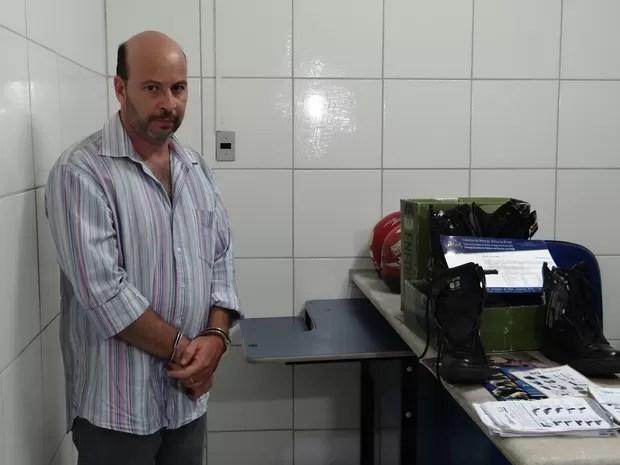 Homem é suspeito de aplicar golpes em policiais militares e agentes penitenciários (Foto: Micaelle Morais/G1)