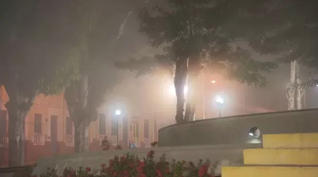 neblina atravessa a Serra de Ibiapaba, no Ceará (Grep) (Foto: Globo Repórter)