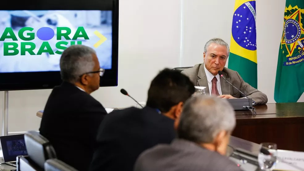 O presidente Michel Temer durante entrevista a rádios regionais (Foto: Marcos Corrêa/Presidência da República)