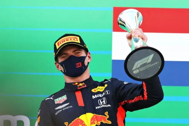 Max Verstappen ficou em segundo lugar no GP da Espanha de 2020 — Foto: Mark Thompson/Getty Images