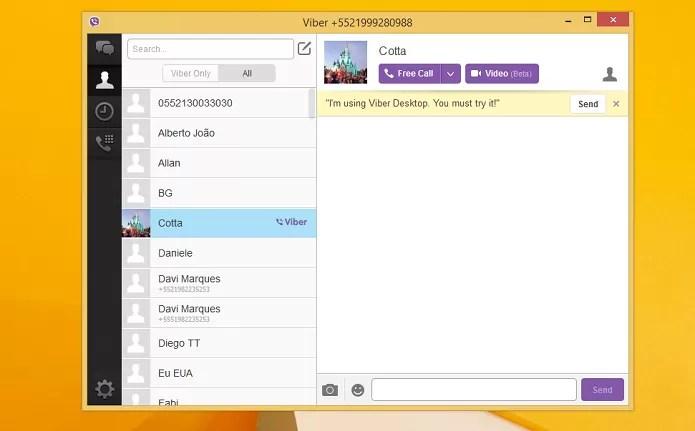 Viber permite comunicação gratuita (Foto: Aline Jesus/TechTudo)
