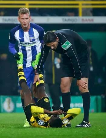 Dembélé Dortmund x Hertha (Foto: Getty Images)