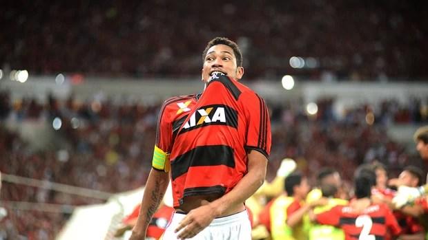 Hernane gol Flamengo final Copa do Brasil jogo Atlético-PR (Foto: André Durão / Globoesporte.com)