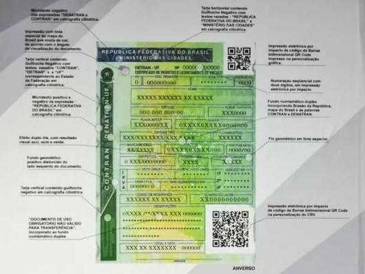 Novo certificado de Registro e Licenciamento de Veículo, que começa a vigorar em 2015 (Foto: José Cruz/Agência Brasil)